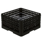 Vollrath PM2110-4 Traex® Plate Crate Black 21 Compartment Plate Rack - Holds 8 3/4 inch to 9 3/16 inch Plates