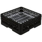 Vollrath PM3807-2 Traex® Plate Crate Black 38 Compartment Plate Rack - Holds 5 inch to 6 1/8 inch Plates