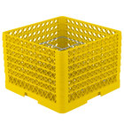Vollrath PM1211-6 Traex® Plate Crate Yellow 12 Compartment Plate Rack - Holds 10 3/4 inch to 11 3/16 inch Plates