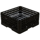 Vollrath PM2006-3 Traex® Plate Crate Black 20 Compartment Plate Rack - Holds 4 3/4 inch to 6 1/2 inch Plates