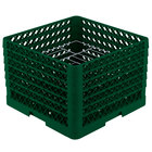 Vollrath PM1412-6 Traex® Plate Crate Green 14 Compartment Plate Rack - Holds 10 3/4 inch to 12 5/16 inch Plates