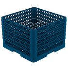 Vollrath PM1412-6 Traex® Plate Crate Royal Blue 14 Compartment Plate Rack - Holds 10 3/4 inch to 12 5/16 inch Plates