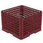 Vollrath PM0912-6 Traex Burgundy 9 Compartment Plate Rack - 11 1/4