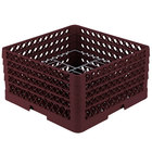 Vollrath PM1510-4 Traex® Plate Crate Burgundy 15 Compartment Plate Rack - Holds 8 3/4 inch to 9 3/16 inch Plates