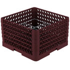 Vollrath PM1510-5 Traex® Plate Crate Burgundy 15 Compartment Plate Rack - Holds 9 inch to 10 3/4 inch Plates