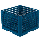 Vollrath PM1211-6 Traex® Plate Crate Royal Blue 12 Compartment Plate Rack - Holds 10 3/4 inch to 11 3/16 inch Plates