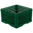 Vollrath PM1211-5 Traex® Plate Crate Green 12 Compartment Plate Rack - Holds 9 3/16 inch to 10 3/4 inch Plates
