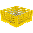 Vollrath PM4407-3 Traex® Plate Crate Yellow 44 Compartment Plate Rack - Holds 6 inch to 7 inch Plates