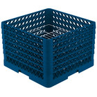 Vollrath PM1912-6 Traex® Plate Crate Royal Blue 19 Compartment Plate Rack - Holds 11 inch to 12 inch Plates
