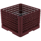 Vollrath PM1912-6 Traex® Plate Crate Burgundy 19 Compartment Plate Rack - Holds 11 inch to 12 inch Plates