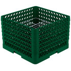 Vollrath PM1912-6 Traex® Plate Crate Green 19 Compartment Plate Rack - Holds 11 inch to 12 inch Plates