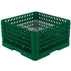 Vollrath PM3208-4 Traex® Plate Crate Green 32 Compartment Plate Rack - Holds 7 5/8 inch to 8 inch Plates
