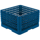 Vollrath PM2011-5 Traex® Plate Crate Royal Blue 20 Compartment Plate Rack - Holds 10 inch to 10 3/4 inch Plates