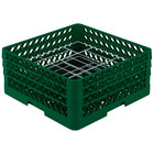 Vollrath PM2006-3 Traex Plate Crate Green 20 Compartment Plate Rack - Holds 4 3/4 inch to 6 1/2 inch Plates