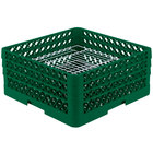 Vollrath PM4407-3 Traex® Plate Crate Green 44 Compartment Plate Rack - Holds 6 inch to 7 inch Plates