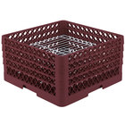 Vollrath PM3208-4 Traex® Plate Crate Burgundy 32 Compartment Plate Rack - Holds 7 5/8 inch to 8 inch Plates