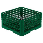 Vollrath PM2110-4 Traex® Plate Crate Green 21 Compartment Plate Rack - Holds 8 3/4 inch to 9 3/16 inch Plates