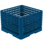 Vollrath PM2011-6 Traex® Plate Crate Royal Blue 20 Compartment Plate Rack - Holds 10 3/4 inch to 11 inch Plates