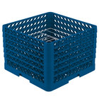 Vollrath PM0912-6 Traex® Plate Crate Royal Blue 9 Compartment Plate Rack - Holds 11 1/4 inch to 12 1/2 inch Plates