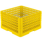Vollrath PM2011-5 Traex® Plate Crate Yellow 20 Compartment Plate Rack - Holds 10 inch to 10 3/4 inch Plates