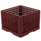 Vollrath PM1211-6 Traex® Plate Crate Burgundy 12 Compartment Plate Rack - Holds 10 3/4 inch to 11 3/16 inch Plates