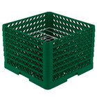 Vollrath PM0912-6 Traex® Plate Crate Green 9 Compartment Plate Rack - Holds 11 1/4 inch to 12 1/2 inch Plates