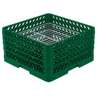 Vollrath PM3008-4 Traex® Plate Crate Green 30 Compartment Plate Rack - Holds 8 inch to 8 3/8 inch Plates
