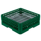 Vollrath PM4806-2 Traex® Plate Crate Green 48 Compartment Plate Rack - Holds 5 inch to 6 inch Plates