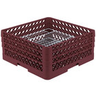 Vollrath PM4407-3 Traex® Plate Crate Burgundy 44 Compartment Plate Rack - Holds 6 inch to 7 inch Plates