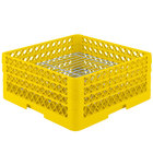 Vollrath PM3208-3 Traex® Plate Crate Yellow 32 Compartment Plate Rack - Holds 4 3/4 inch to 7 5/8 inch Plates