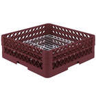 Vollrath PM3208-2 Traex® Plate Crate Burgundy 32 Compartment Plate Rack - Holds 4 3/4 inch to 6 1/4 inch Plates