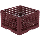 Vollrath PM2011-5 Traex® Plate Crate Burgundy 20 Compartment Plate Rack - Holds 10 inch to 10 3/4 inch Plates