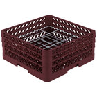 Vollrath PM2006-3 Traex® Plate Crate Burgundy 20 Compartment Plate Rack - Holds 4 3/4 inch to 6 1/2 inch Plates
