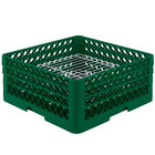 Vollrath PM3208-3 Traex® Plate Crate Green 32 Compartment Plate Rack - Holds 4 3/4 inch to 7 5/8 inch Plates