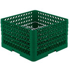 Vollrath PM2011-5 Traex® Plate Crate Green 20 Compartment Plate Rack - Holds 10 inch to 10 3/4 inch Plates
