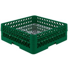 Vollrath PM3208-2 Traex® Plate Crate Green 32 Compartment Plate Rack - Holds 4 3/4 inch to 6 1/4 inch Plates