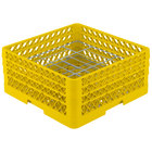 Vollrath PM2006-3 Traex® Plate Crate Yellow 20 Compartment Plate Rack - Holds 4 3/4 inch to 6 1/2 inch Plates