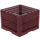 Vollrath PM2011-6 Traex® Plate Crate Burgundy 20 Compartment Plate Rack - Holds 10 3/4 inch to 11 inch Plates