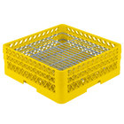 Vollrath PM4806-2 Traex® Plate Crate Yellow 48 Compartment Plate Rack - Holds 5 inch to 6 inch Plates