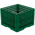 Vollrath PM2011-6 Traex® Plate Crate Green 20 Compartment Plate Rack - Holds 10 3/4 inch to 11 inch Plates