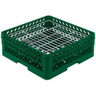 Vollrath PM3807-2 Traex® Plate Crate Green 38 Compartment Plate Rack - Holds 5 inch to 6 1/8 inch Plates