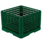 Vollrath PM1211-6 Traex® Plate Crate Green 12 Compartment Plate Rack - Holds 10 3/4 inch to 11 3/16 inch Plates