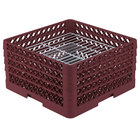 Vollrath PM3008-4 Traex® Plate Crate Burgundy 30 Compartment Plate Rack - Holds 8 inch to 8 3/8 inch Plates