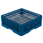 Vollrath PM4806-2 Traex® Plate Crate Royal Blue 48 Compartment Plate Rack - Holds 5 inch to 6 inch Plates