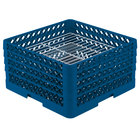 Vollrath PM3008-4 Traex® Plate Crate Royal Blue 30 Compartment Plate Rack - Holds 8 inch to 8 3/8 inch Plates