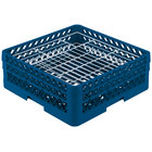 Vollrath PM3807-2 Traex® Plate Crate Royal Blue 38 Compartment Plate Rack - Holds 5 inch to 6 1/8 inch Plates