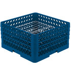 Vollrath PM2209-3 Traex® Plate Crate Royal Blue 22 Compartment Plate Rack - Holds 7 inch to 7 7/8 inch Plates