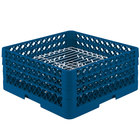 Vollrath PM3208-3 Traex® Plate Crate Royal Blue 32 Compartment Plate Rack - Holds 4 3/4 inch to 7 5/8 inch Plates