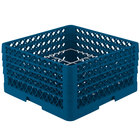 Vollrath PM1211-4 Traex® Plate Crate Royal Blue 12 Compartment Plate Rack - Holds 8 3/4 inch to 9 3/16 inch Plates