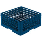 Vollrath PM2006-3 Traex® Plate Crate Royal Blue 20 Compartment Plate Rack - Holds 4 3/4 inch to 6 1/2 inch Plates